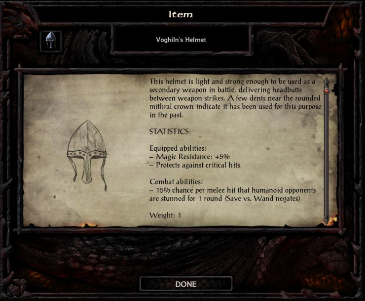 Voghiln's Helmet